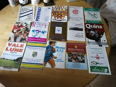 Rugby Union mixed Programmes Joblot 9 (15 included)