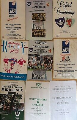 Rugby Union mixed Programmes Joblot 6 (15 included)