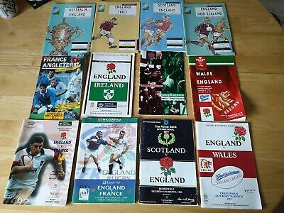 International Rugby Union & World Cup 1991 Programmes Joblot 5 (12 included)