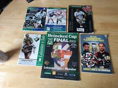 International & UK  Rugby Union Programmes Joblot 3 (6 included)