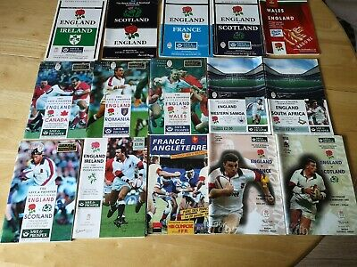 International Rugby Union Programmes Joblot 2 (15 included)