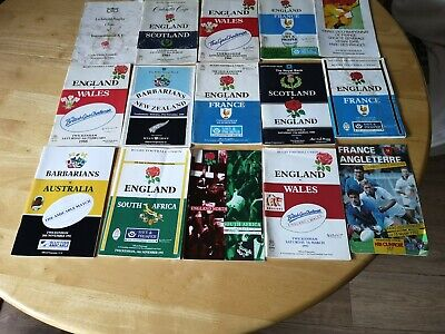International Rugby Union Programmes Joblot 1 (15 included)