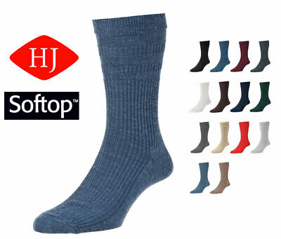 HJ90 Hall Mens Softop Loose No Elastic Wool Rich Socks