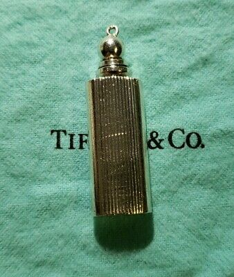 Tiffany & Co. Grooved Mini Perfume Bottle Purse Size Sterling Silver Very Rare