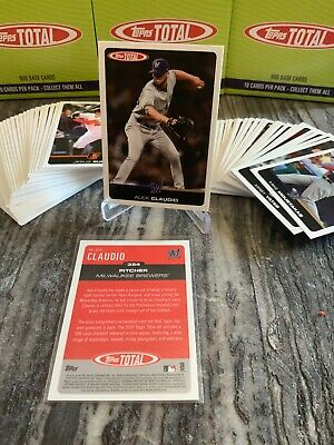 2019 Topps Total Wave 4 (Limited /439 MADE) #354 ALEX CLAUDIO Brewers