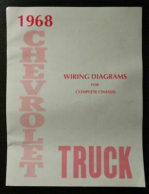 1968 Chevrolet Truck Wiring Diagram Manual for Complete Chassis 68 Chevy