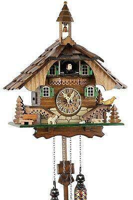 Black Forest House 32cm- 20563 Cuckoo Clock Real Wood New Battery Powered