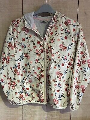 Next girls rain jacket Age 12 Cotton Lined With Hood Floral Pattern lightweight