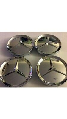 Mercedes-Benz Chrome/shiny centre caps 65 mm
