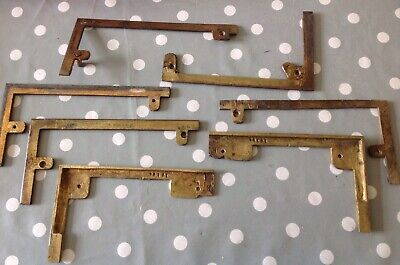 Antique Clock Brass Feet Case Mounts Ex Clockmakers Parts Collection