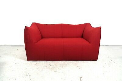 Le Bambole 2-seater sofa setee red wool design Mario Bellini 1972 B&B Italia