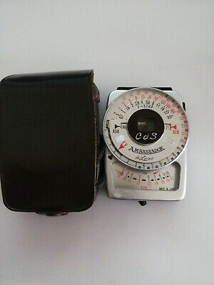 Vintage Ambassador Cds Exposure Meter NE-200 with official leather case
