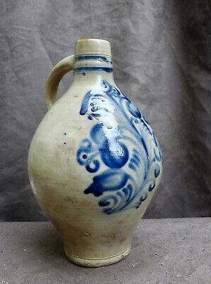 Nice quality 18th Century German stoneware large jug found in a canal Amsterdam