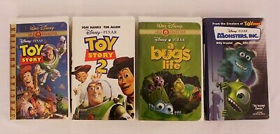 Disney Pixar (VHS) Lot of 4 (Toy Story I & II, Bug's Life, Monsters Inc,)