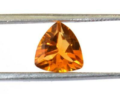 Natural Orange Citrine Faceted Trillion 7 Mm Cut Loose Gemstone 1 Pc #1172 -B