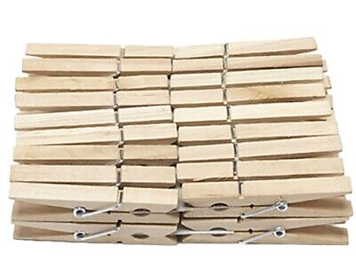Wooden Clothes Pegs Clips Pins Washing Line Airer Dry Line Wood Peg Outdoor