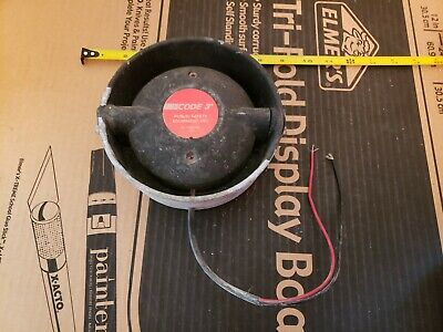 CODE 3 100 W 11 OHMS Siren Speaker Police Fire Rescue Tested and Working!!