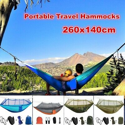 Double Person Travel Outdoor Nylon Camping Tent Hanging Hammock Bed Mosquito