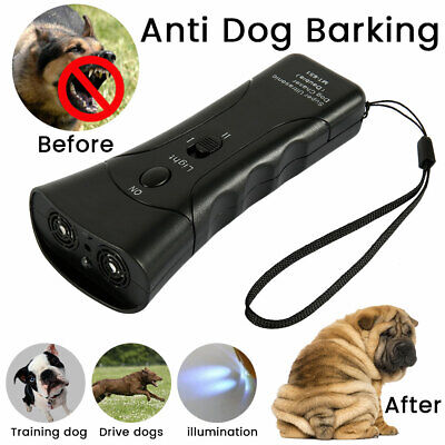US Ultrasonic Anti Dog Barking  Trainer LED Light Gentle Chaser Petgentle Sonic