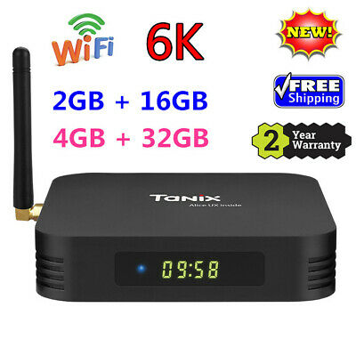 Tanix TX6 - A TV Box 6K H.265 Dual-Antenna Android 9.0 USB3.0 USB 2.0 2.4G WiFi