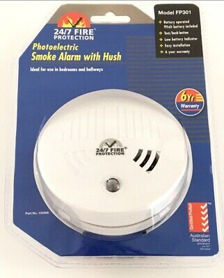 Smoke Alarm Fire Detector Quell® Made 24/7 Photoelectric Quality +9V Battery