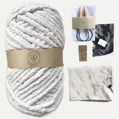 DIY KNITTING BLANKET Kit Super Soft Thick and Thin Bulky