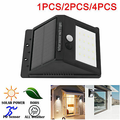 8X20 LED Solar Powered PIR Motion Sensor Light Outdoor Garden Security Lights UK