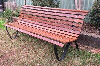 Cast Iron Outdoor Garden Bench Seat Park Vintage