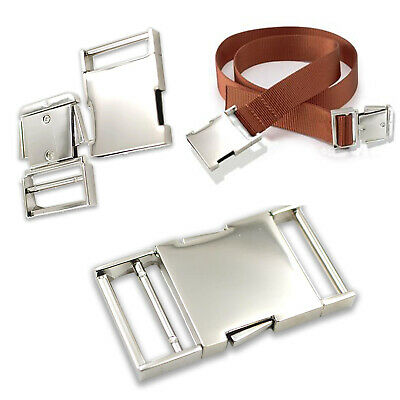Side Release Silver Metal Buckles Clasp Clips for Webbing Strap Bag 25mm / 30mm
