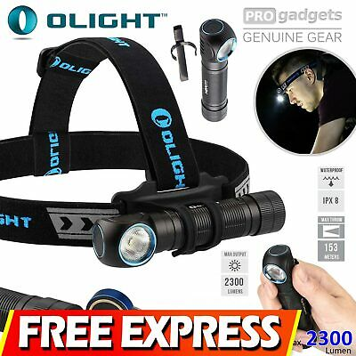 FREE EXPRESS Olight 2300 Lumens H2R Nova Rechargeable Cree LED Headlamp Torch