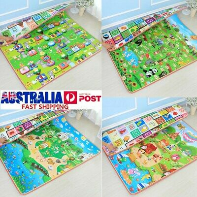 15mm 2mx1.8m Thick Baby Play Mats Floor Rugs Cushion Crawling Picnic Blanket AU