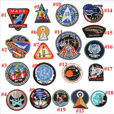 Fashion Space Embroidered Iron/Sew ON Patch Fabric Applique Badge U-pick