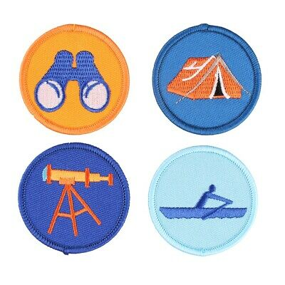 Scout Camping Embroidered Iron/Sew ON Patch Fabric Applique Badge U-pick