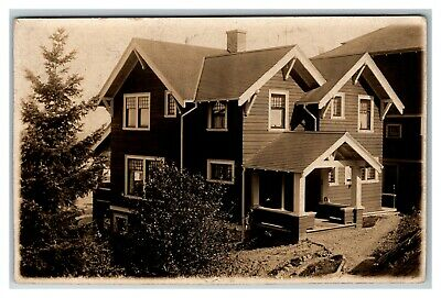 Real Photo of Art's & Craft Two Story Bungalow, No Location 1910's Postcard A13