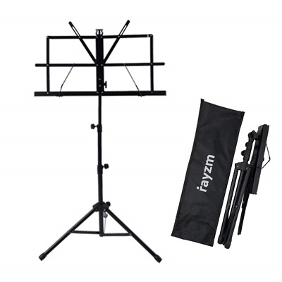 Rayzm Sheet Music Book Stand,Sturdy Portable Folding Metal Stand with Carrying &