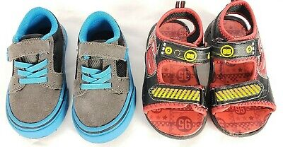 Lot 2 Pairs Baby Boys Toddler Shoes Size 6 Disney Cars Sandals + Sneakers