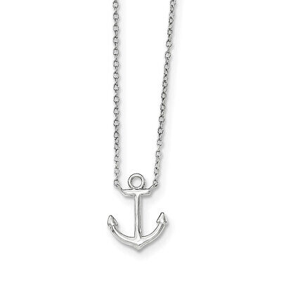 CH029L16 16 in 2mm Flat Anchor Chain Sterling Silver