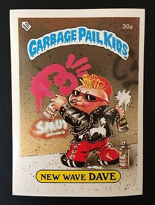 New wave dave 30a UK Garbage Pail Kids Series 1(1985) Vintage ~ Topps ~ NMT/MINT