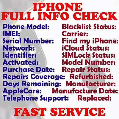 Fast Iphone Ipad Imei Check Carrier Unlock Model Blacklist Icloud Info