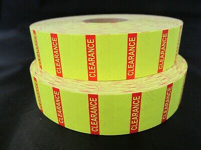 Yellow Clearance Labels for 1131 Monarch Labelers 2 Rolls, 5,000 Labels