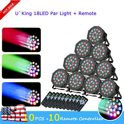 10 X 18 LED RGB PAR CAN DMX Light DJ Stage Lighting for Wedding Party Uplighting