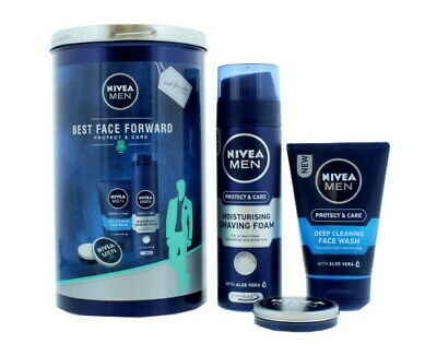 Nivea Men Best Face Forward 3 Pieces Protect & Care Giftset/Tin Pack