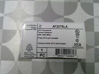 Legrand / Pass & Seymour AF20TRLA 120V 20A AFCI Receptacle **Free Shipping**