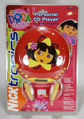 Nicktronics Dora the Explorer Personal CD Player w/ Headphones NEW & SEALED