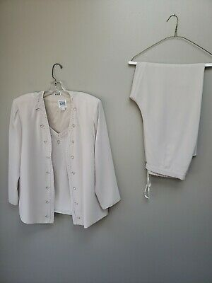 Womens Mother of The Bride Pant Suit 3 Piece Special Occasion Outfit Sz 16