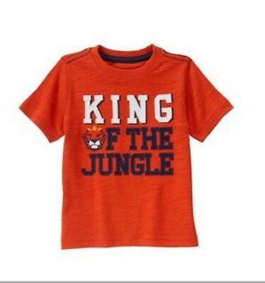 GYMBOREE NWT Toddler Boys Jungle Tour King Red Tee Short Sleeve Top 12-18 Months