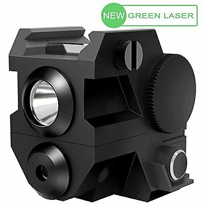 LASPUR Mini Tactical Green Laser Sight with CREE LED Flashlight Combo for Pistol