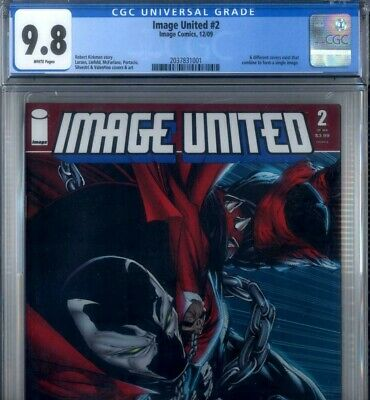 PRIMO:  IMAGE UNITED #2 NM/MT 9.8 cgc SPAWN variant cover McFARLANE comics