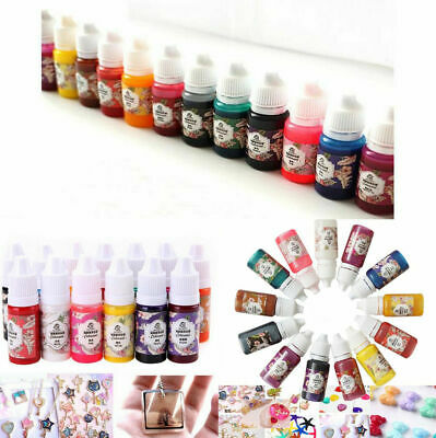 12 Bottles 10g Epoxy UV Resin Coloring Dye Colorant Pigment Mixed Color DIY Set