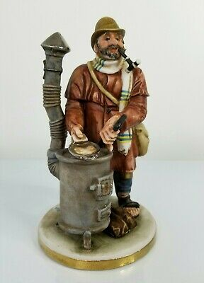 VTG PUCCI Italy Signed Numbered Porcelain Figurine Hobo Man hand painted 7.5""